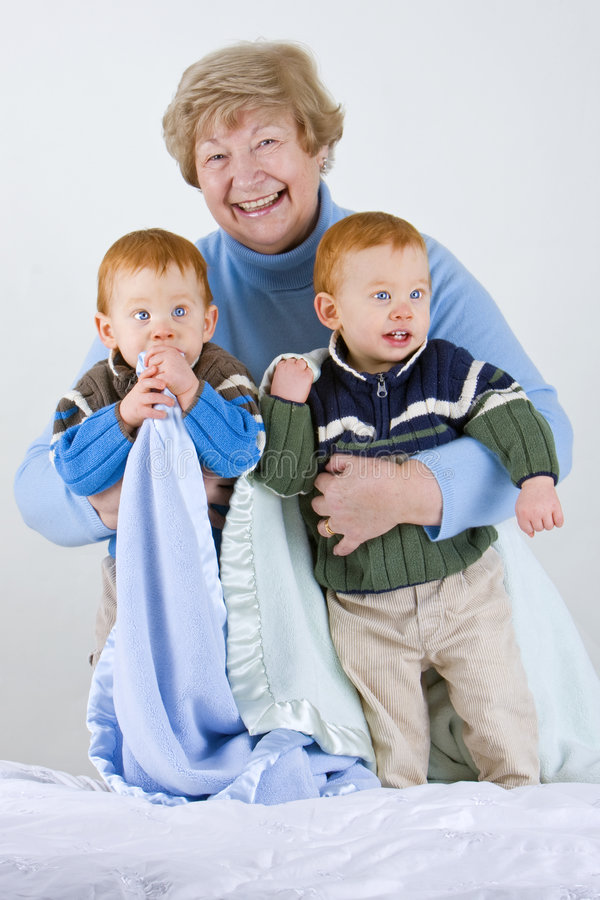 Gelukkige Grootmoeder stock fotografie