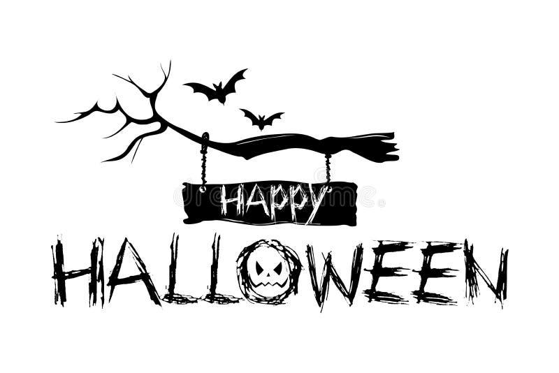 Gelukkige Halloween-achtergrond stock illustratie