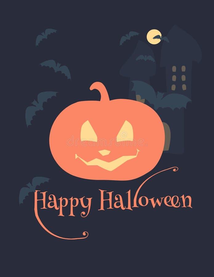 Gelukkige Halloween-achtergrond royalty-vrije stock afbeelding
