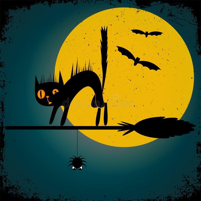 Gelukkige Halloween-achtergrond Vector illustratie stock illustratie