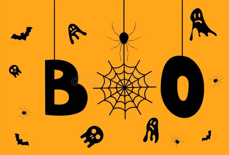 Gelukkige Halloween-Groet met Enge Bloed Gevulde Ogen royalty-vrije illustratie