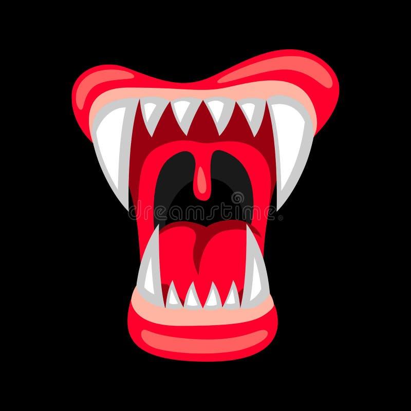 Gelukkige Halloween-illustratie van boze kaken met tanden vector illustratie