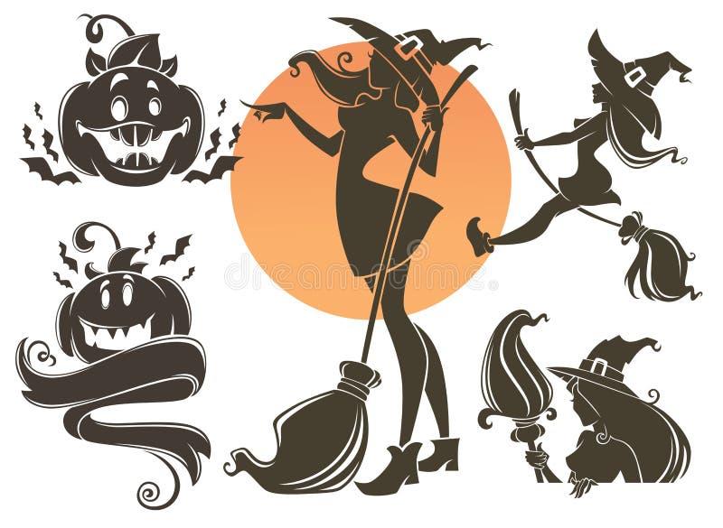 Gelukkige Halloween-Inzameling stock illustratie