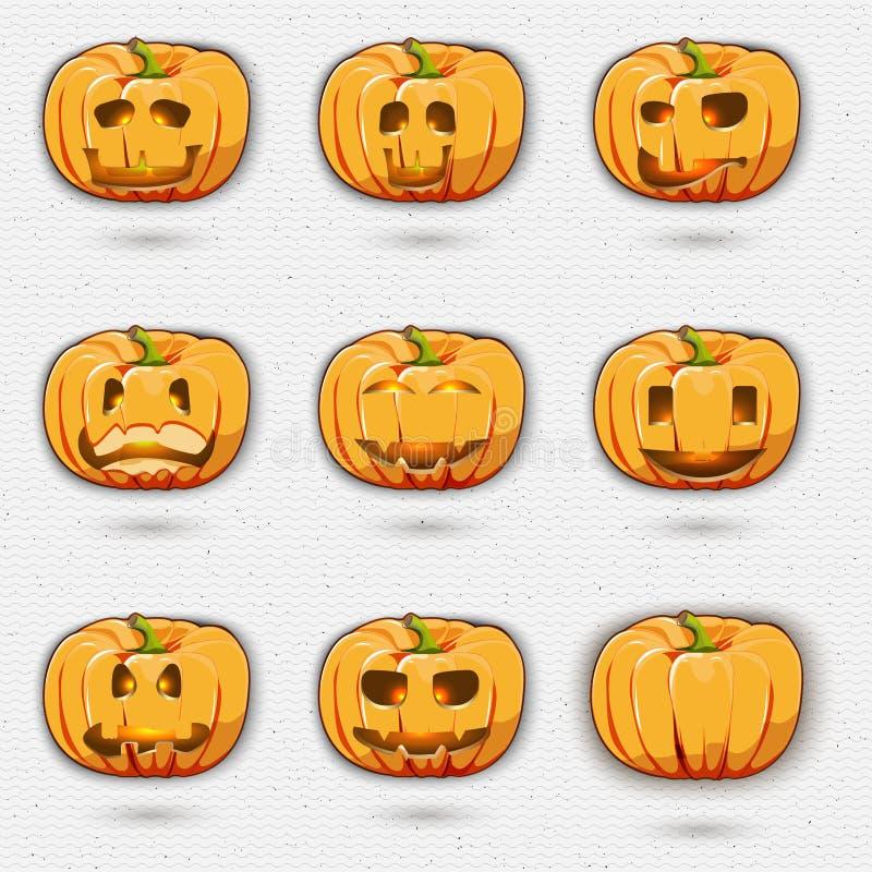 Gelukkige Halloween-kentekensemblemen en etiketten voor om het even welk royalty-vrije illustratie