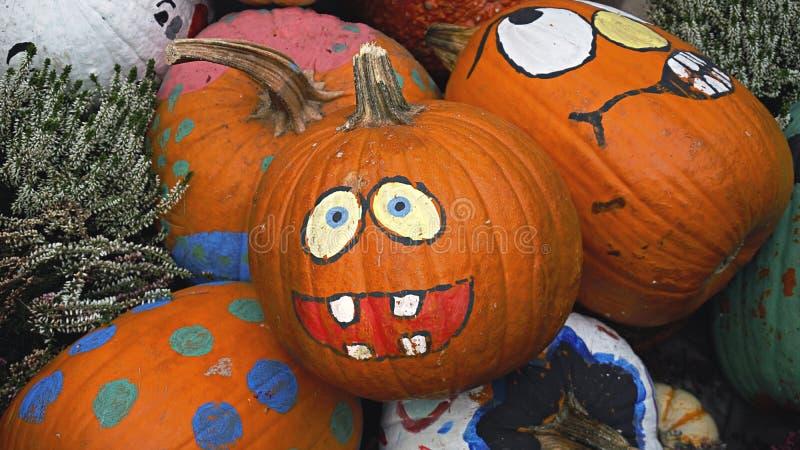 Gelukkige Halloween-Pompoen in Tuinen door de Baai royalty-vrije stock afbeelding