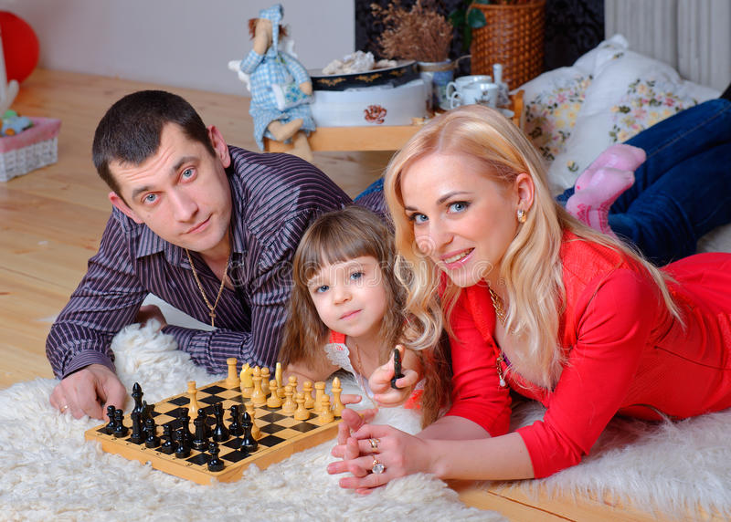 Gelukkige hechte familie royalty-vrije stock fotografie