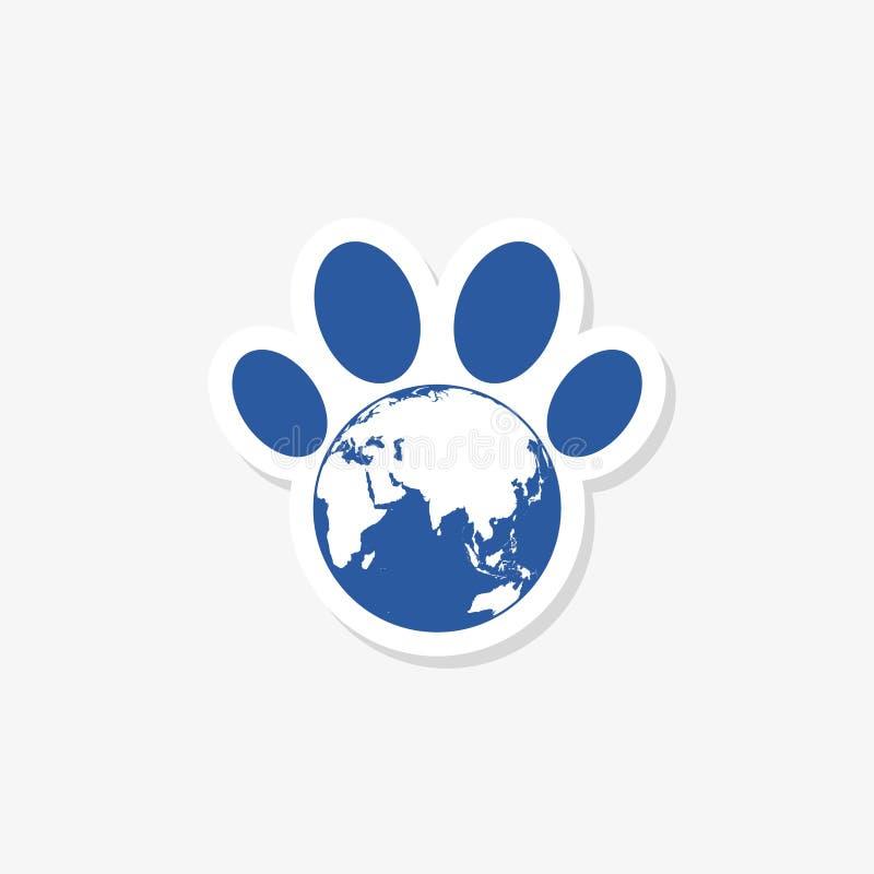 Gelukkige het conceptenachtergrond van de wereld dierlijke dag royalty-vrije illustratie