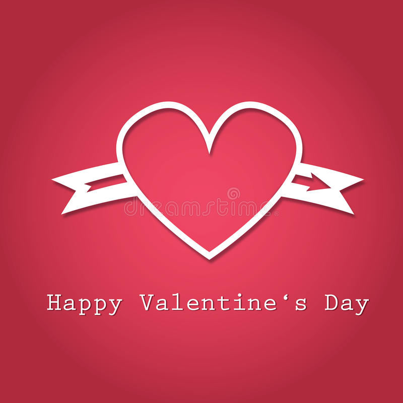 Gelukkige het hartillustratie van de Valentijnskaartendag stock afbeeldingen