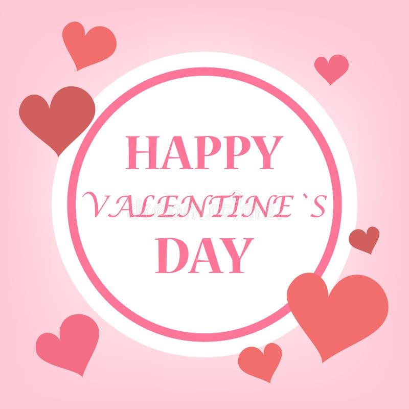 Gelukkige het Webbanner of affiche van de Valentijnskaartendag Ontwerp stock illustratie