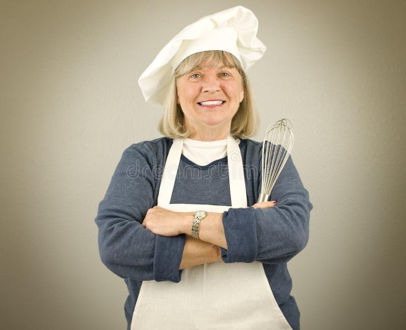Gelukkige Hogere Chef-kok stock afbeeldingen