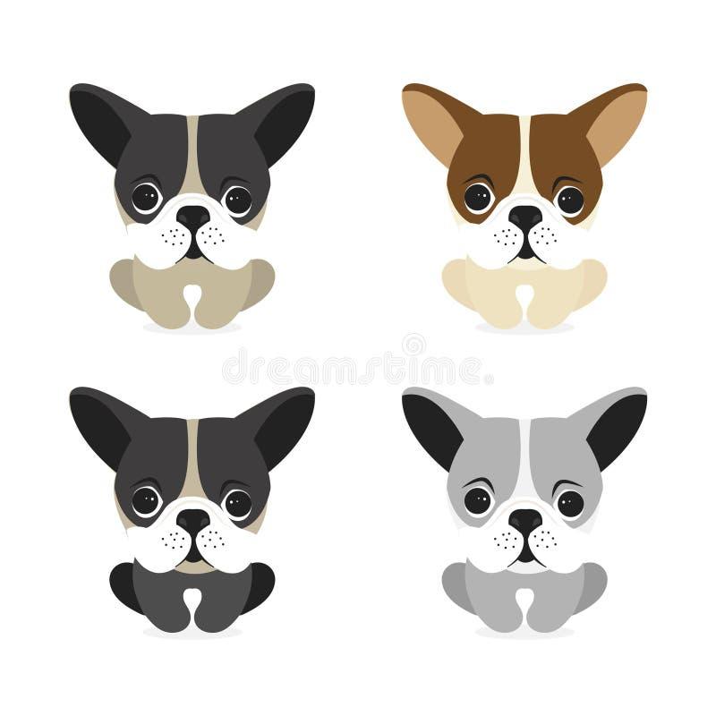Gelukkige hond vectorkarakters op witte achtergrond vector illustratie