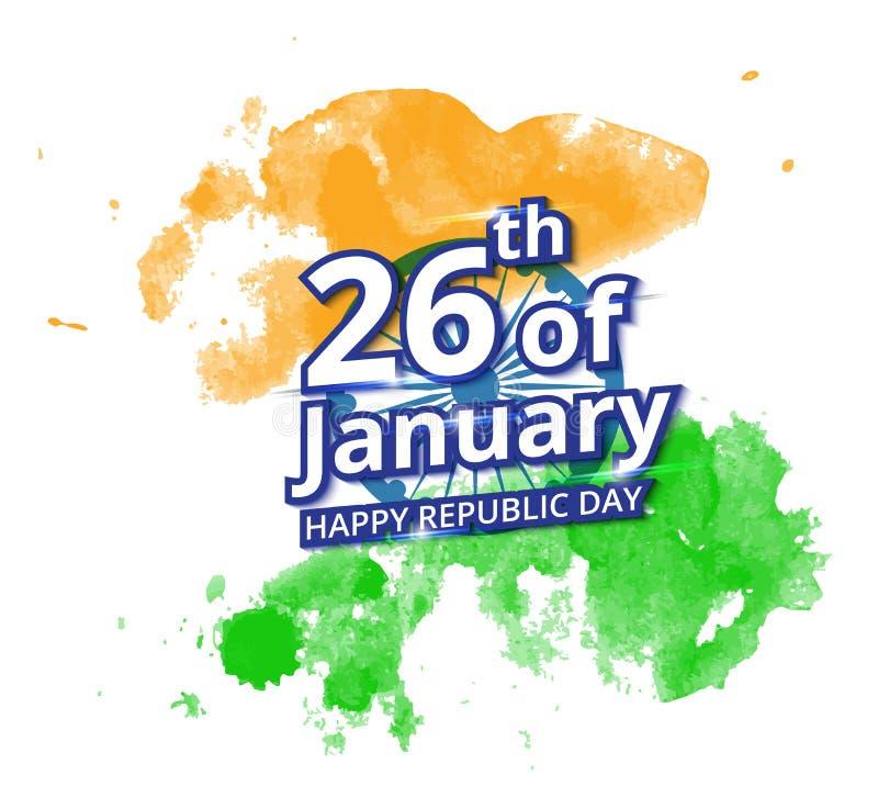 Gelukkige Indische de Dagviering van de Republiek stock illustratie