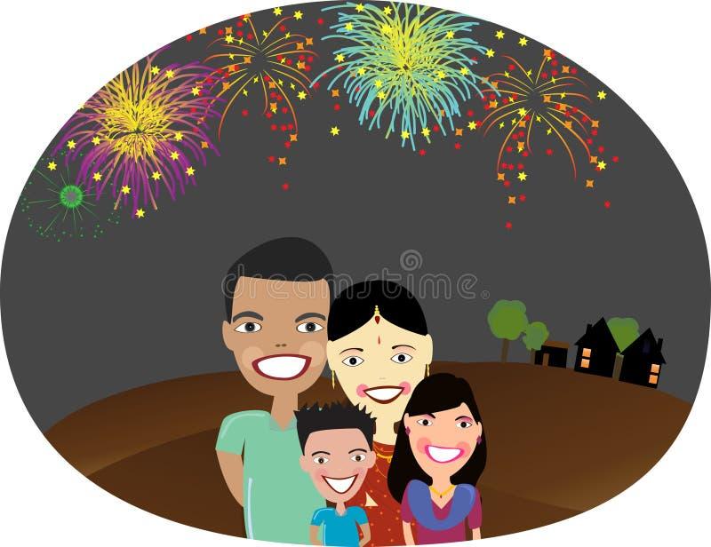 Gelukkige Indische familie vector illustratie