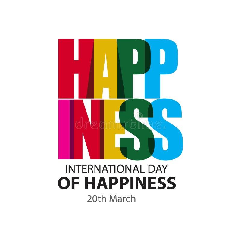 Gelukkige Internationale Dag van Illustratie van het Geluk de Vectorontwerp stock illustratie
