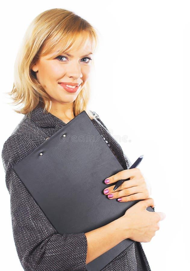 Download Gelukkige Jonge Bedrijfsvrouw. Geïsoleerd Over Wit Stock Foto - Afbeelding bestaande uit bediende, menselijk: 10784288