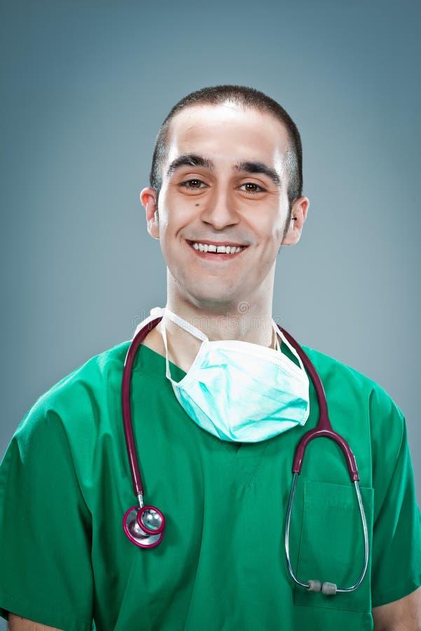 Gelukkige Jonge Chirurg royalty-vrije stock foto