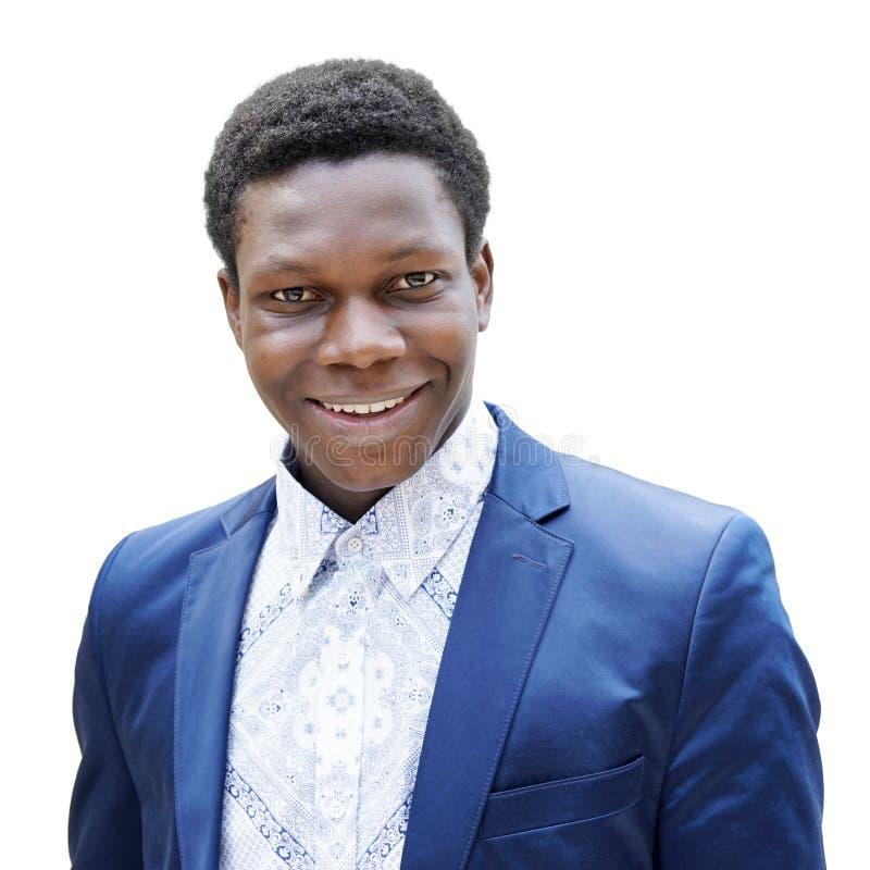 Gelukkige jonge mens van Afrikaanse afdaling royalty-vrije stock afbeelding