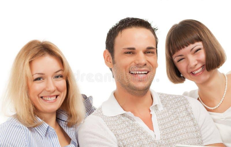 Gelukkige jonge mensen stock foto