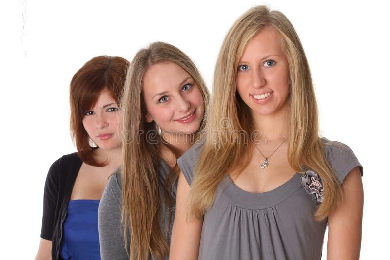 Gelukkige jonge studenten stock foto's