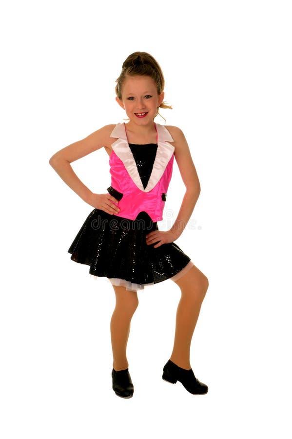 Gelukkige Jonge Tapdanser stock afbeelding