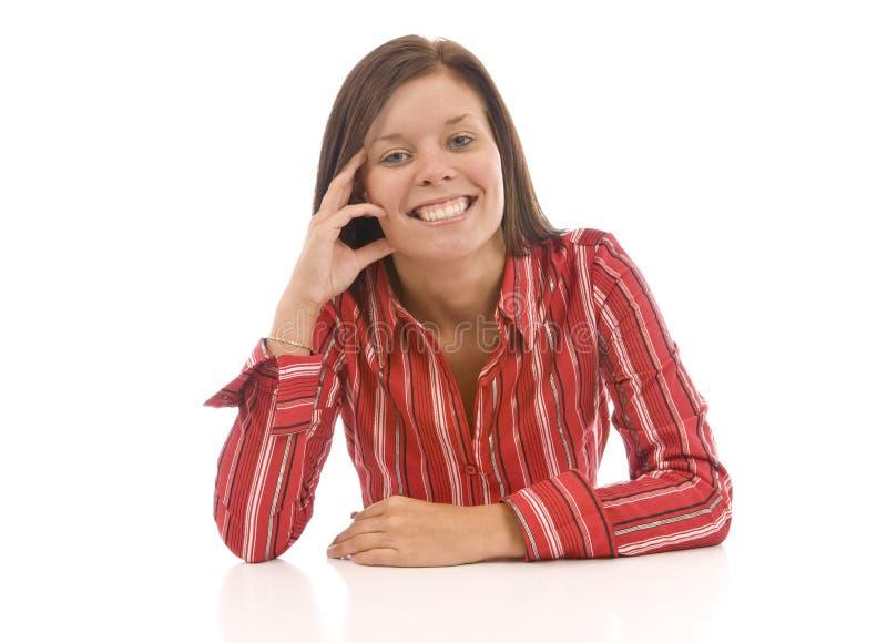 Download Gelukkige jonge vrouw stock foto. Afbeelding bestaande uit ethnicity - 54082712
