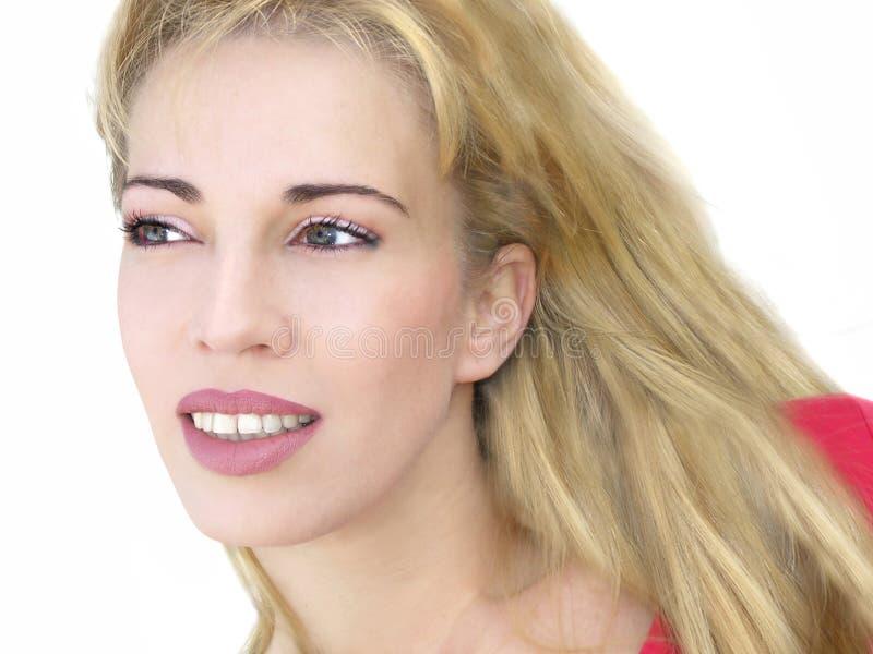 Download Gelukkige jonge vrouw stock foto. Afbeelding bestaande uit modellen - 60786