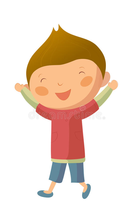 Gelukkige jongen vector illustratie