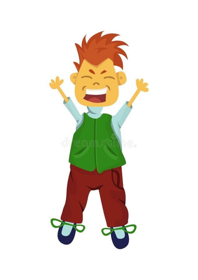 Gelukkige jongen stock illustratie