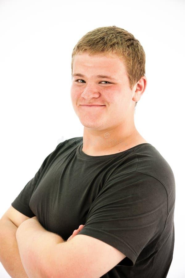 Gelukkige jongen met sproeten stock afbeeldingen