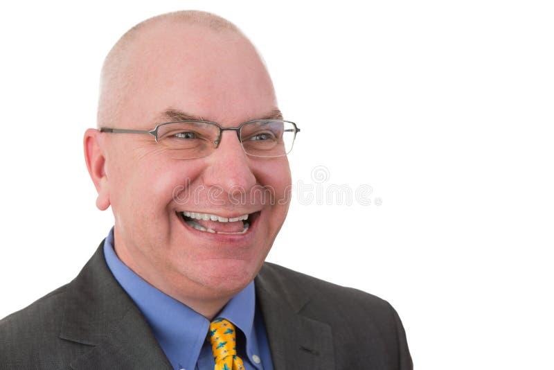 Gelukkige joviaale zakenman royalty-vrije stock afbeeldingen