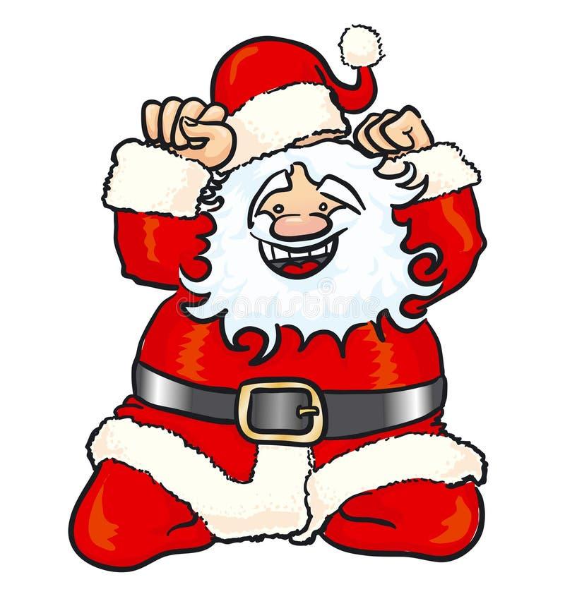 Gelukkige Kerstman royalty-vrije illustratie