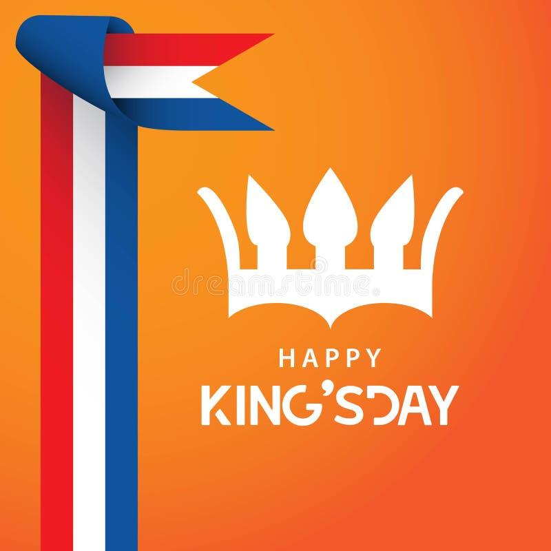 Gelukkige King' s het Ontwerpillustrator van het Dag Vectormalplaatje vector illustratie