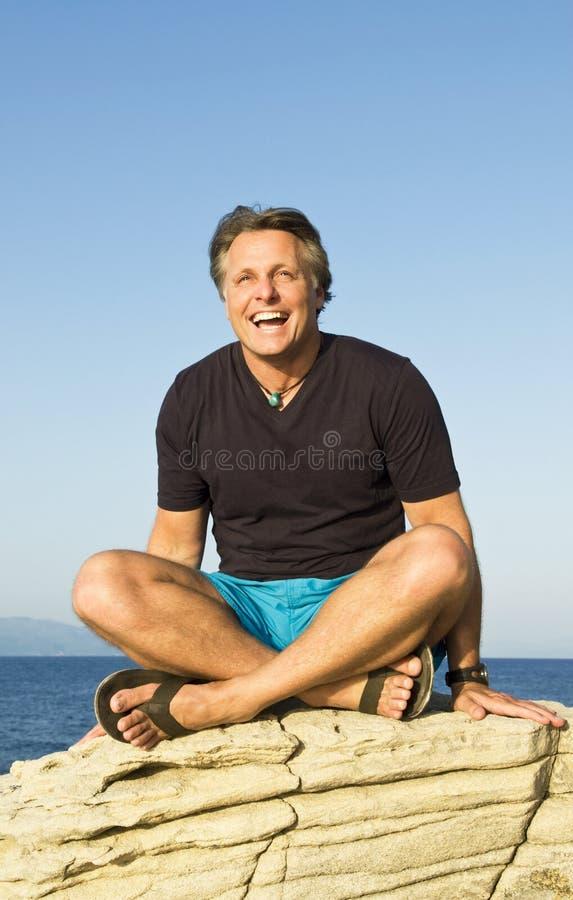 Gelukkige lachende mens royalty-vrije stock fotografie