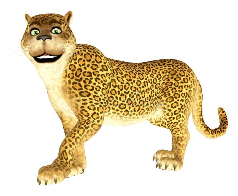 Gelukkige Luipaard vector illustratie