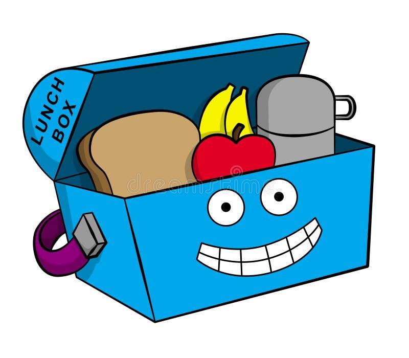 Gelukkige lunchbox vector illustratie