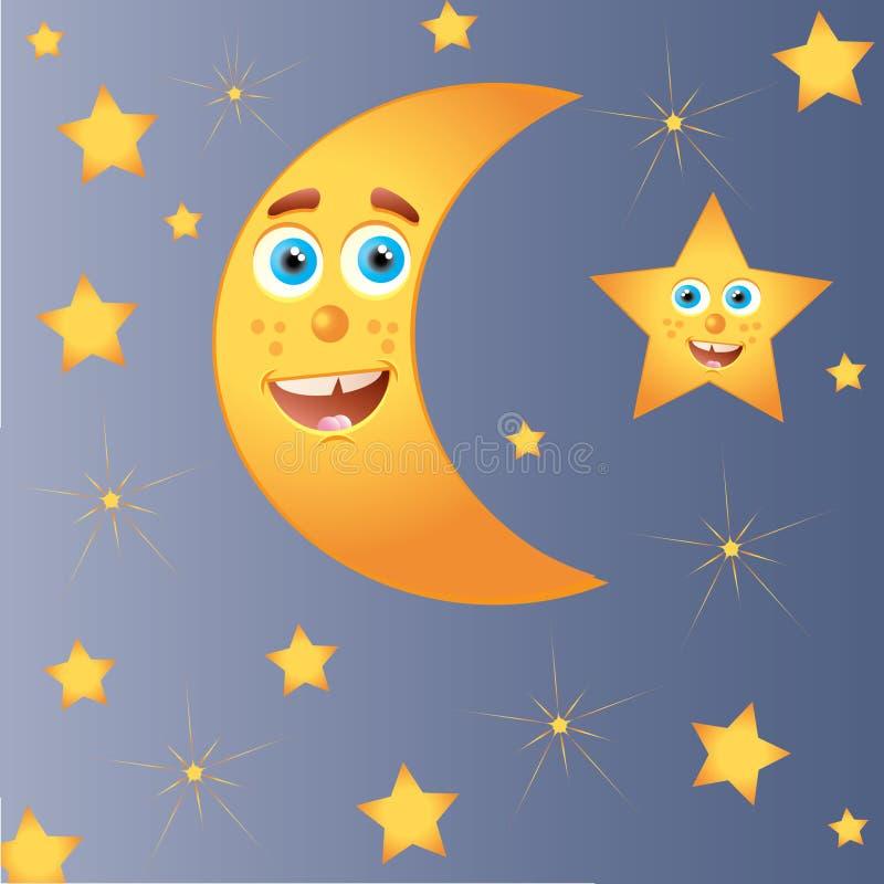 Gelukkige maan met ster