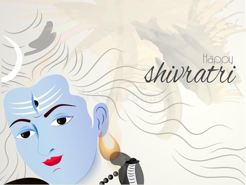 Gelukkige Maha Shivratri stock illustratie