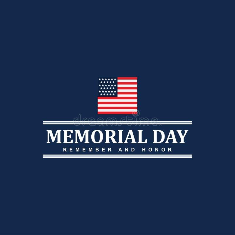 Gelukkige Memorial Day -het Ontwerpillustratie van het Vierings Vectormalplaatje stock illustratie