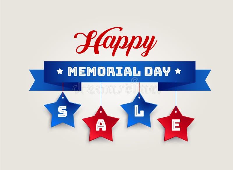 Gelukkige Memorial Day -van de Verkoop vectorbanner illustratie als achtergrond vector illustratie