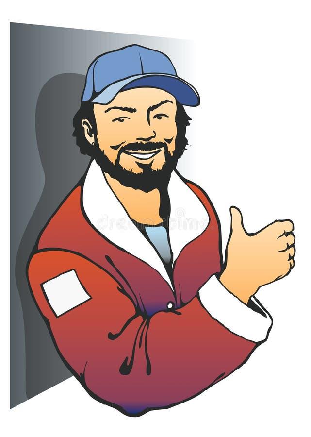 Gelukkige Mens vector illustratie