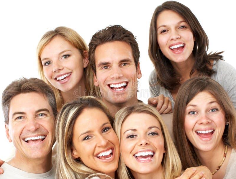 Gelukkige mensen stock afbeeldingen