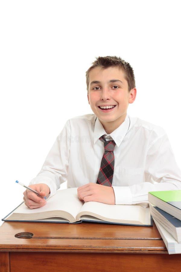 Gelukkige middelbare schoolstudent royalty-vrije stock afbeelding