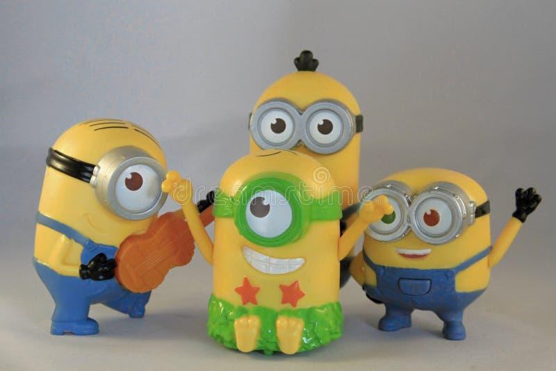 Gelukkige Minions stock afbeeldingen