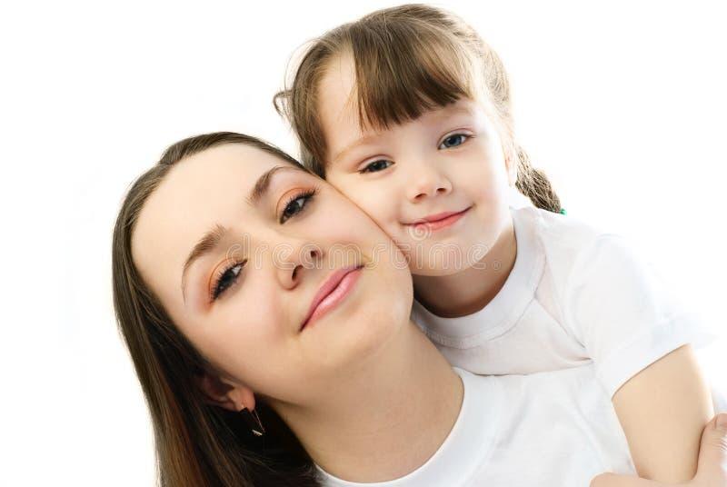 Gelukkige Moeder En Dochter Gratis Stock Afbeeldingen