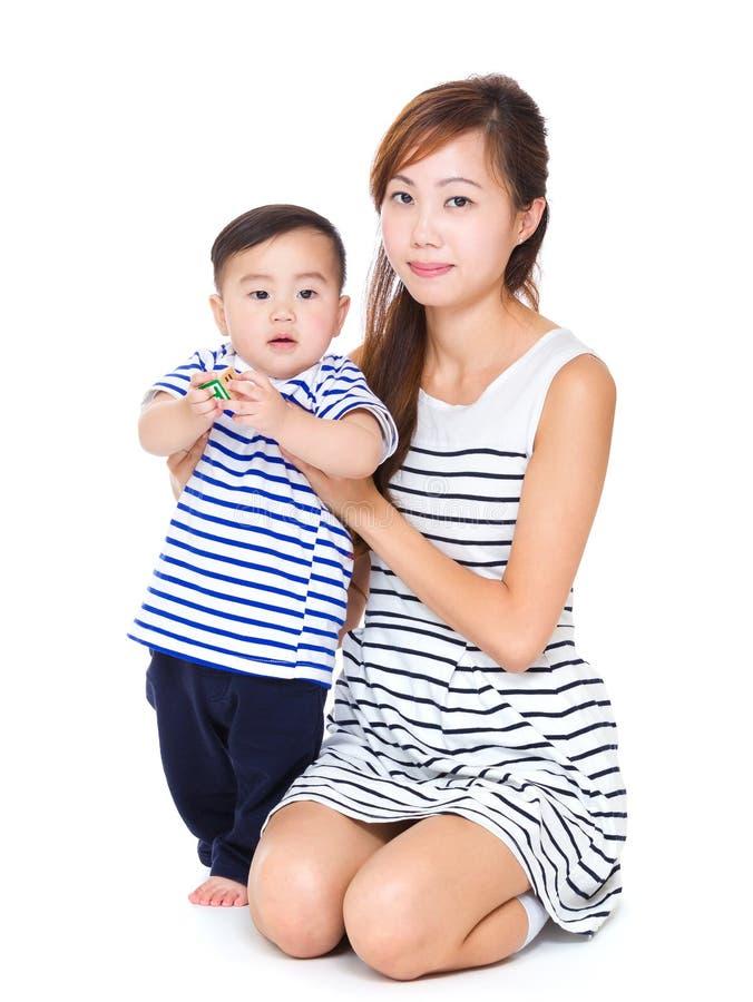 Gelukkige moeder met baby royalty-vrije stock foto