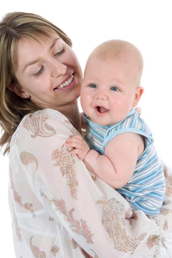 Gelukkige moeder met baby royalty-vrije stock foto's