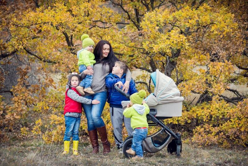 Gelukkige moeder met kleine kinderen royalty-vrije stock foto