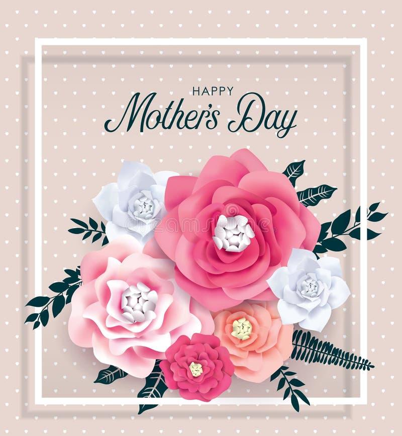 Gelukkige moeder`s dag royalty-vrije illustratie