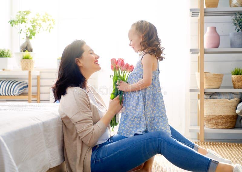 Gelukkige moeder`s dag stock foto