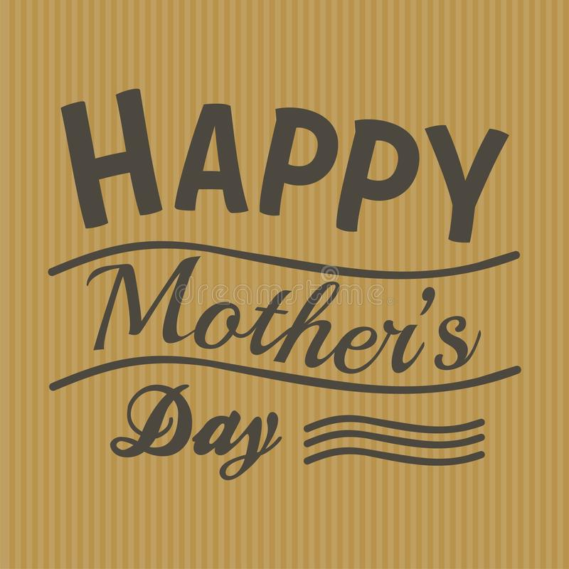 Gelukkige moeders dag royalty-vrije illustratie